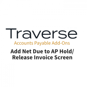 Add Net Due to Invoice Screen AP/AR