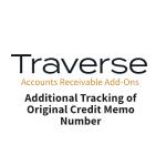 TRAVERSE Mods AR Addt Tracking Orginal Credit Memo-Num