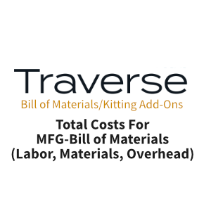 TRAVERSE Mods Bill of Materials Total Cost MFG-BOM