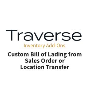 TRAVERSE Mods Custom Bill of Lading